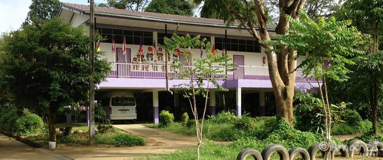 Near Kuraburi, North of Phuket, Thailand, West Coast Rural Thai School