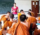 Chiang Mai, Thailand, Teaching Novice Buddhist Monks in Chiang Mai